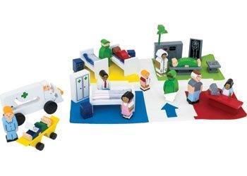 D1.456.1: Wooden Hospital Playset