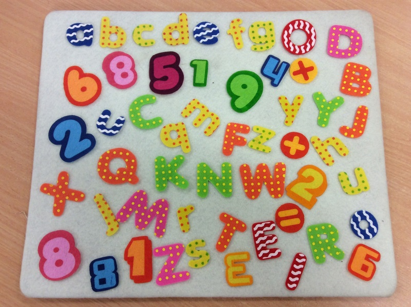 E3.983.8: Felt creations Alphabet and Numbers