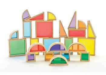 C3015: Colourful Rainbow See-Through Blocks