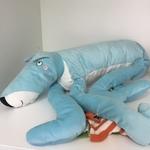 BBY020: Blue Dog in Socks Soft Toy