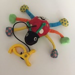 BBY026: Red Beetle Soft Toy/Rattle