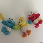 BBY027: Sesame Street Soft Toy/Rattle