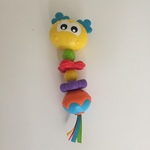 BBY041: Yellow Smiley Face Rattle