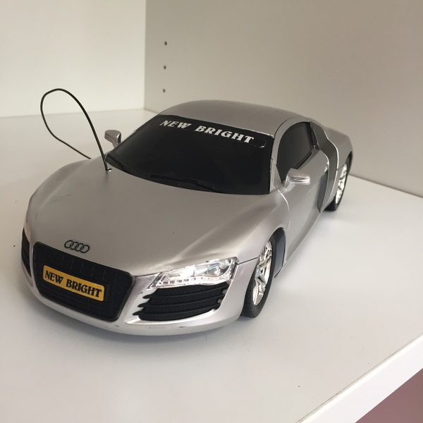 CAR001: Silver Audi Large Toy Car