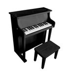 495: Upright Wooden Piano with Stool