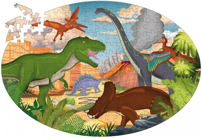 614: Dinosaurs Oval Puzzle