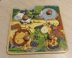 956: Jungle Animal Knob Puzzle