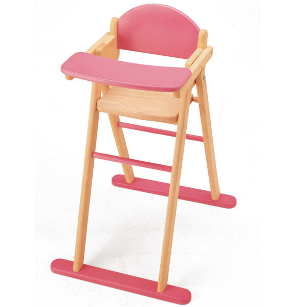 253: Doll's wooden High Chair