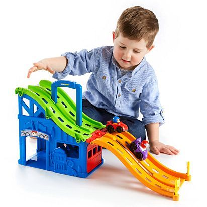190: Little People Wheelies Fold & Race Carrier #A