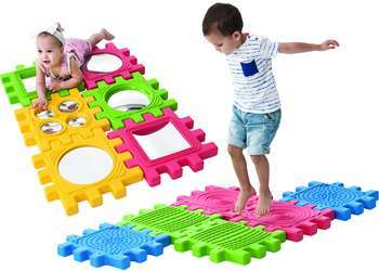 258: WePlay Toddler Mirror & Tactile Sensory Panels