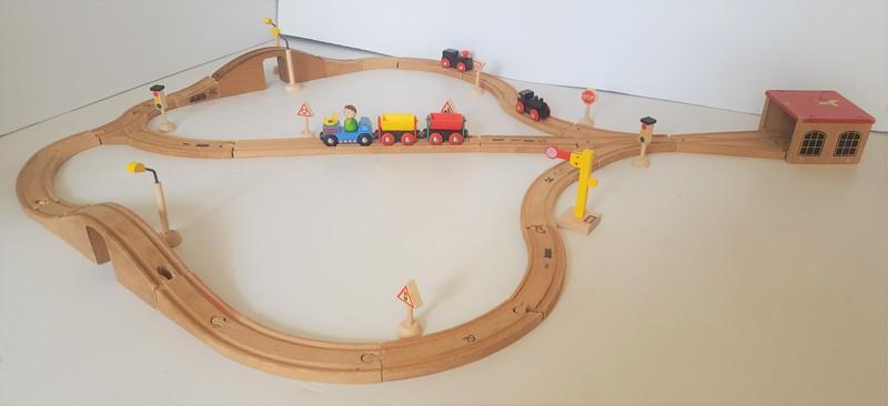 56: BRIO WOODEN TRAIN TRACKS