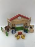 382: FARM PLAY SET - WOODEN