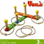 912: WOODEN TOSS-A-RING