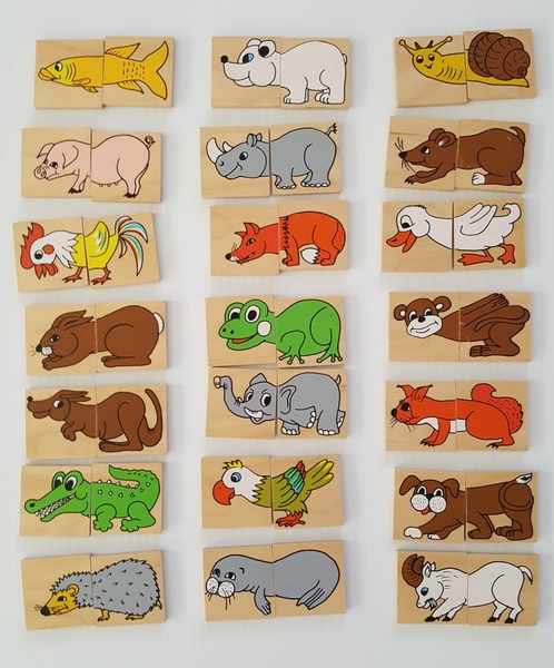 356: ANIMALS HEADS AND TAILS MATCHING PAIRS