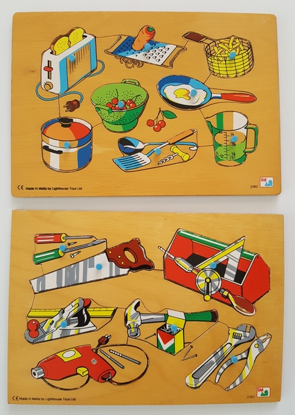 524: HOUSEHOLD TOOLS AND KITCHEN UTENSILS PUZZLES