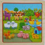 1315: Farm Scene Wooden Puzzle