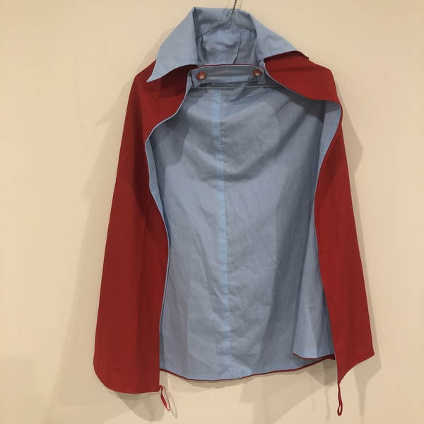 G133: Red and Blue Cape Costume