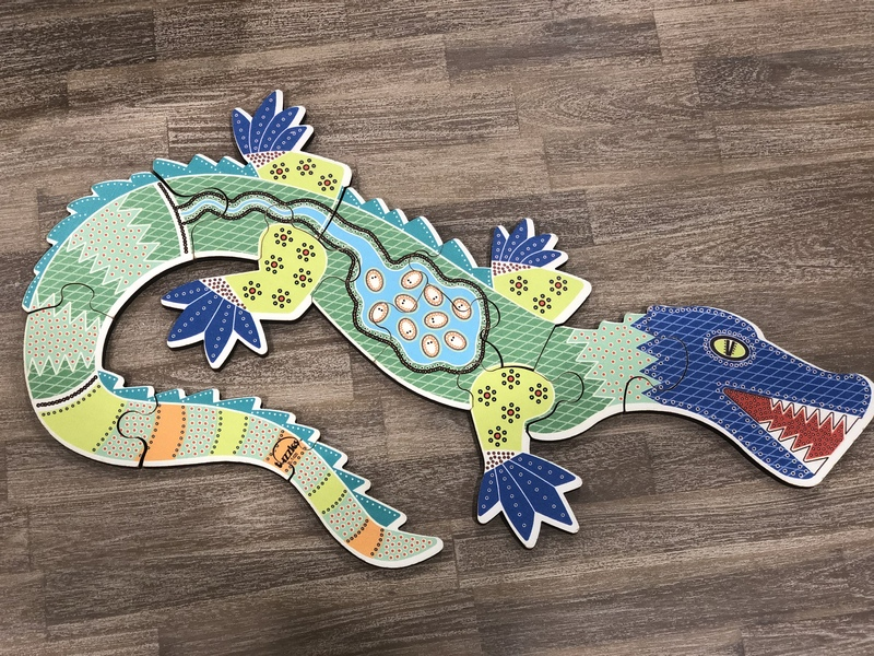 A98: Aboriginal Art Crocodile