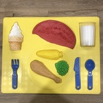 C278: Dinner Food Tray Puzzle