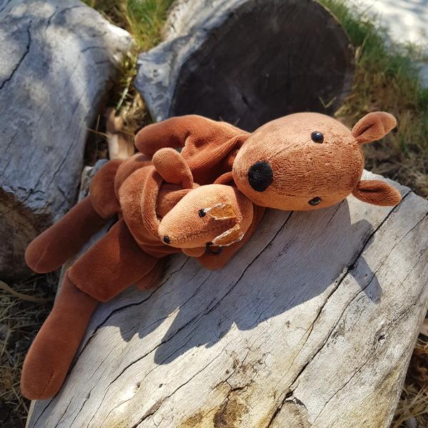G93: Kangaroo and Baby Puppet