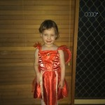 D75: Red Fairy Costume Size 2 - 3