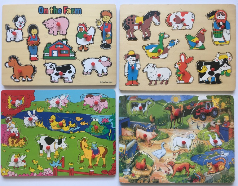 PG16: Farm Animals Peg Puzzles