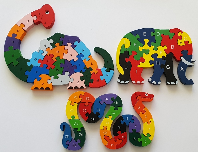 PG63: Letters & Numbers Animal Puzzles