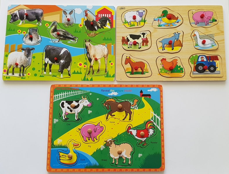 PG95: Easy Animal Peg Puzzles