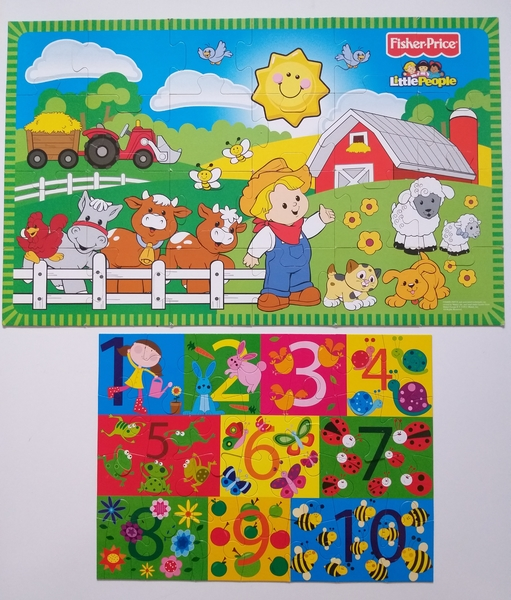 PG139: On the Farm and My Numbers Floor Puzzles