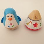 B108: Penguin Musical Wobbler and Rotating Music Box