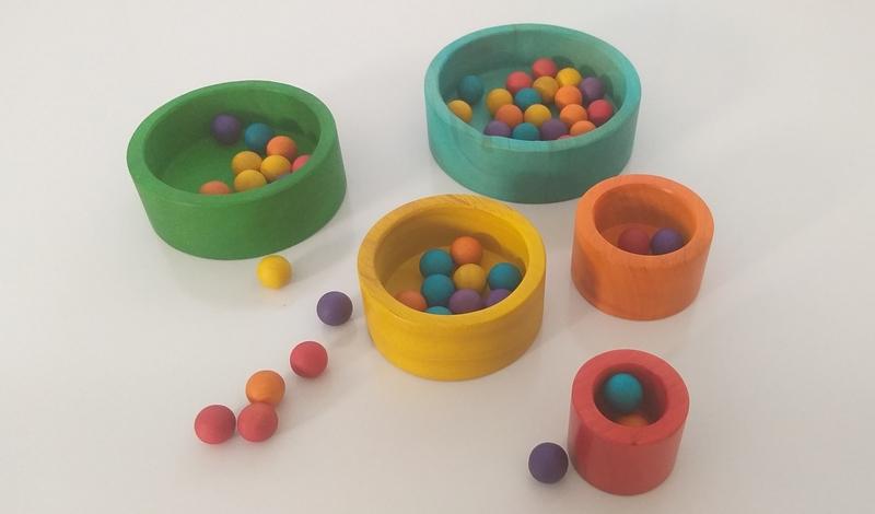 IMG145: Wooden Bowls, Stacking and Sorting Play Set