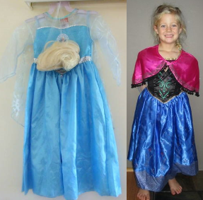 IMG210: Frozen Costumes Size 3-6