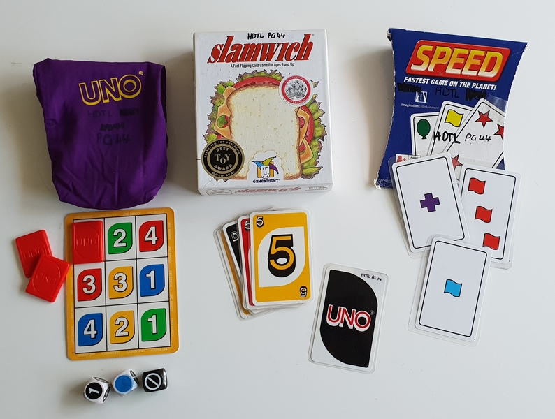 PG44: Card Games: Uno, Slamwich, Speed, Uno Bingo