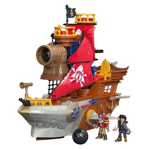 E481: Imaginext Shark Bike Pirate Ship