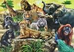 6078: Wild Animals Wooden inset Puzzle