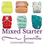 N6: Modern Cloth Nappy Pack (15 Assorted +2 Wetbags)