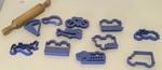 868: Play Dough Set - Blue Transport