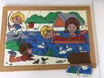 866: Lakeside Scene Inset Puzzle