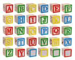 2076: Wooden English Alphabet Blocks
