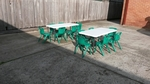 GREEN Chairs & Tables- Playground Pack