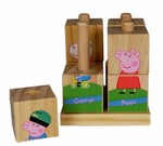 1487: Peppa Pig Wooden Stacking Puzzle