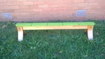 2945: Wooden Balance  Beam Green