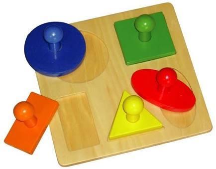 C1585: Large Wooden Shape Peg Puzzle