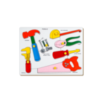 C444: Tools lift out Wooden puzzle