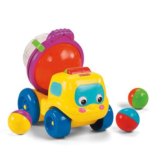 A136: FIsher Price Cement Mixer Truck ball roller