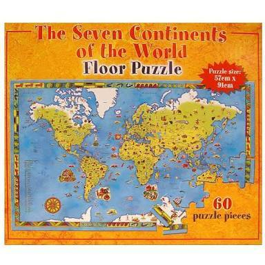C186: The Seven Continents of the World FLoor Puzzle
