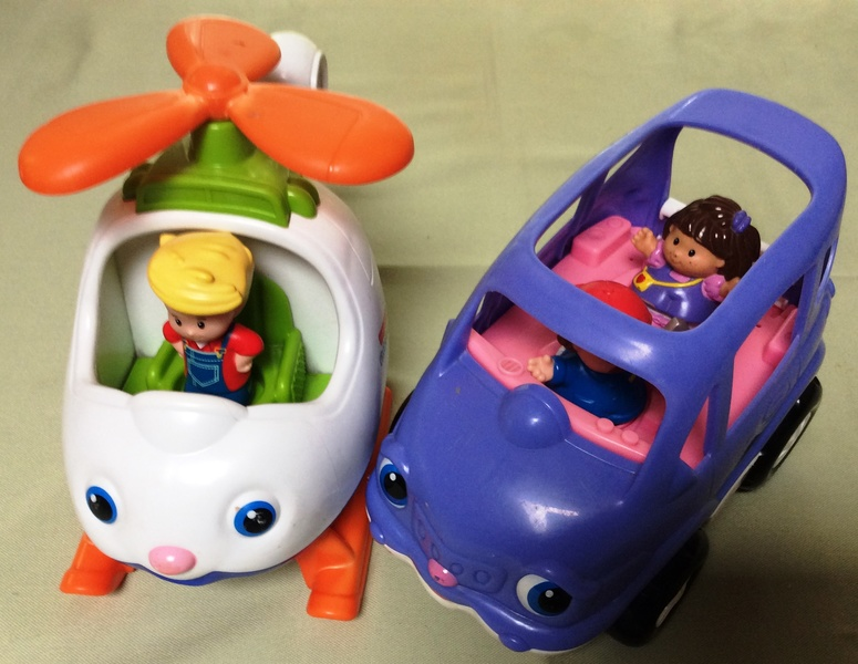 F187: Little People Helicopter and Bus
