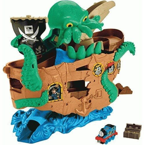 F195: Fisher Price Thomas and Friends Adventures Sea Monster Pirate Ship