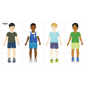 C38: Multicultural boy grid puzzle