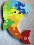 C13: Wooden Animal Counting Puzzle